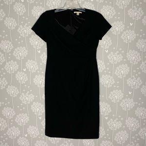 Banana Republic Dress Size 6 Black Faux Wrap Top